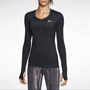 Nike Pro V-Neck Long Sleeve Shirt XL
